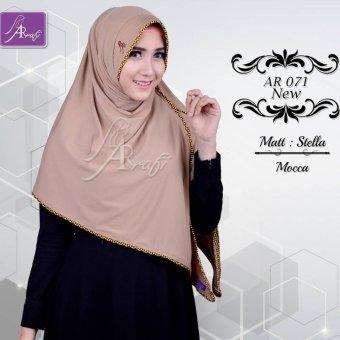 Hijab Instan Arrafi Veena [warna Mocca] AR71N kerudung jilbab bergo