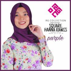 hijab segiempat hanna rawis polos hijab square dewasa dan anak