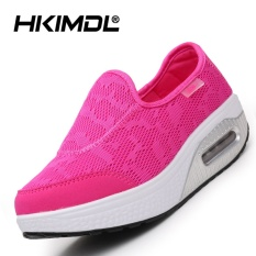 HKIMDL Air Cushion Thick Bottom Increased Shake Shoes Sandals Shoes Fashion Korean Pine Cake Cool and Leisure Shoes Red - intl