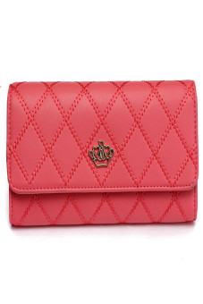 HKS Fashion Women Lady Faux Leather Wallet Holder Card Purse Clutch Handbag Red