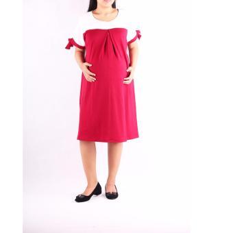 HMILL Baju Hamil Dres Hamil 1195 - Merah