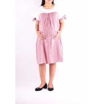 HMILL Baju Hamil Dress Hamil Kerja 1206 - Merah