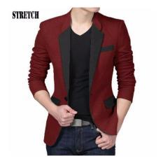 Honeyclothing Blazer Pria Samson - Merah