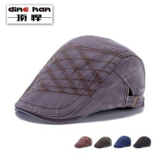 HOT Men's Ivy Hat Solid Cotton Cap Golf Driving Sun Flat boy Cap (Size/Style:One Size ᆪᆲColorᆪᄎBlue) - intl