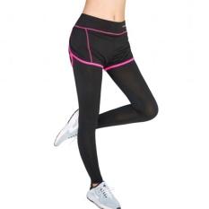 Hot Pink perempuan Yoga legging olahraga lari latihan lari aerobik latihan kecepatan udara kering di ruang