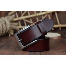 Hot Sale Cowhide Genuine Leather Belts for Men Brand Male Strap Pin Buckle Fancy Vintage Jeans (Coffee) - intl