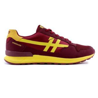HRCN - Jual Sepatu Olahraga / Sport / Running Pria - H 5095 | BAHAN : SYNTHETIC | WARNA : MRN(EU:44)(OVERSEAS)