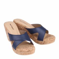Hush Puppies Sandal Wedges Wanita Gretta - Navy
