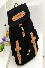 ILife Casual Cute Lady Girls Versatile Vintage Canvas Satchel Backpack Solid Women School Black