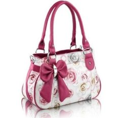 Ilife Of You Fashion Rose Printing Women Handbag Fashion Women Bag OL Fashion Women Bags Ladies Casual Shoulder Bag Tote Red
