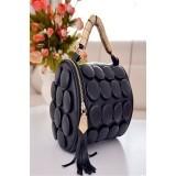 Ilife Summer Luxury Tasel Button Women Shoulder Mini Bags Famous Brand Pu Leather Cartera Hombre Bucket Bag Bolsos De Mano Black