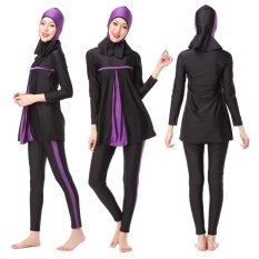 Islamic Swimwear Islamic Swimsuit Women Hijab Swimwear Full Coverage Swimwear Muslim Swimming Beachwear Swimsuit Sport Clothing Dress Purple - intl