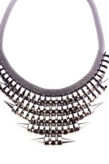 Istana Accessories Chain Stut Black Fashion Necklace