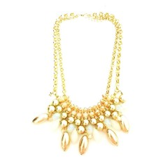 Istana Accessories Fashion Necklace Chain Crystal Pearl Mix White (Not Defined)