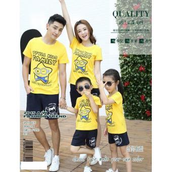 Jakarta Couple - Kaos Couple Family Minion Star 2Anak | Baju Keluarga