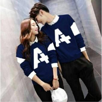 Jakarta Couple Sweater Pasangan A Navy