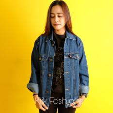 Jaket Jeans Denim Cewe Oversize Regular Biowash Best Seller