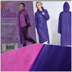 Jas Hujan EVA Non-toxic Lightweight Raincoat - Ungu