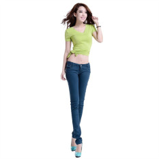 Jasper 2016 New Arrived Womens Jeggings Size 26-31 Ladies Fit Skinny Coloured Stretchy Trousers Jeans Casual Summer Autumn Pants Colours - Intl