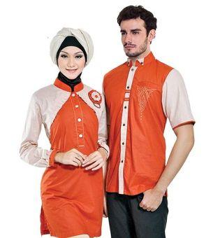Java Seven ALY 328 Baju Koko Pria Cotton Menarik (Merah-Putih)