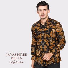 Jayashree Batik Kemeja Slimfit Kastara Black Long Sleeve Men