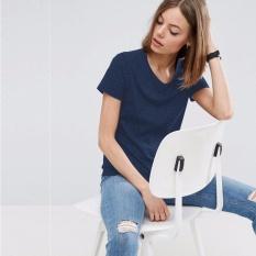 Home · Hanyu Panas Gaya Korea Jual Baju Wanita Atasan Bergaris Leher V Blus Hitam International