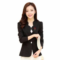 Jfashion Korean Style Women Blazer With Bross Long SLeeve - Linda Hitam