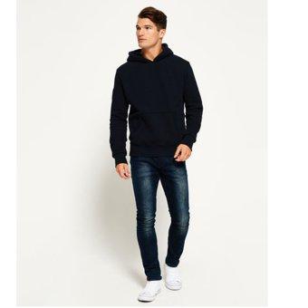 Jfashion Sweater Pria Variasi Topi Tangan Panjang Carlson - Hitam