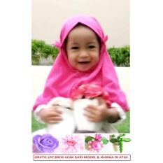 Jilbab/Hijab Instan Tasya Anak Lucu Imut Bahan Crepe - Hotpink
