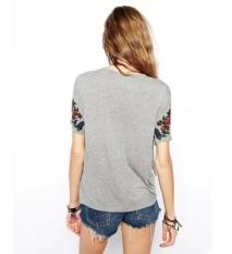 CatWalk New Stylish Women's Short Sleeve O-Neck Loose Casual Shirt Tops Blouse Tassel T-Shirt M-L (Intl)