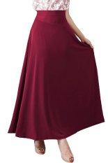 JO & NIC A-Line Maxi Skirt Rok Hijab - Fit to XL - Maroon