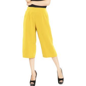 JO & NIC Allison Midi Culotte Pants - Celana Kulot Wanita -Yellow
