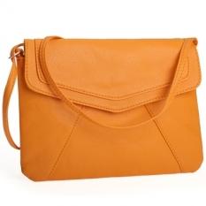 GE Women Lady Envelope Clutch Shoulder Evening Handbag Tote Bag Purse 5 Colors Yellow