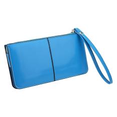 GE Women Zipper Purse Lady Handbag Clutch Wallet Skyblue
