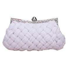 Jo.In Women's Evening Bag Shining Rhinestone Handbag Shoulder Bag Clutch Bag With Chain White - Intl