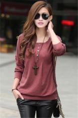 Jo.In Women's Fashion Batwing Sleeve Autumn Winter Shirt Warm Base Shirt Tops Blouse M-XL (Red)