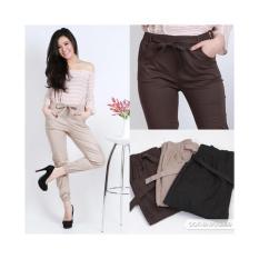 JOGGER PANTS COTTON STRETCH FOR LADIES (celana jogger katun wanita)