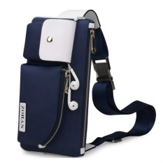 JOY Casual Male canvas messenger bag(Blue )