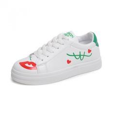 JOY Leisure Sports Shoes White Shoes Green
