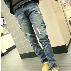 JOY Men's Haren Casual Jeans Blue - Intl