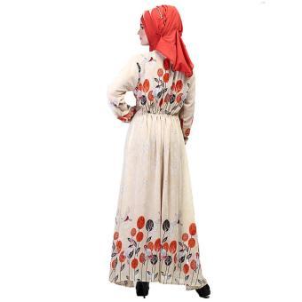 Jual Gamis / Busana Muslim Wanita | Inficlo - SHJ 830 | WARNA : KREM | BAHAN : HYCON