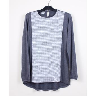 Just Mom Baju Menyusui GEA 121, White pattern, Misty grey