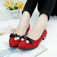 KAISAR - FLat Shoes Lonceng [RED]