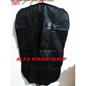 Kantong cover Jas kain warna hitam(blazer/kemeja/baju/jaket/celana