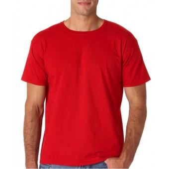 Kaos Oblong Polos Lengan Pendek O-Neck Unisex - Merah