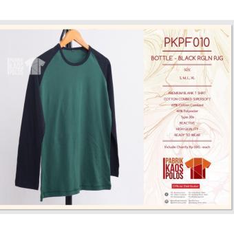 Kaos Polos hijab RAGLAN BOTLE-BLACK PJG 30s