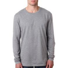 KaosBRO Kaos T-Shirt O-Neck Lengan Panjang Slim - Abu Misty