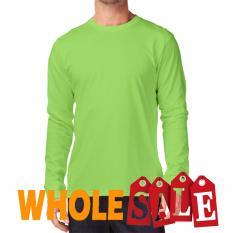 KaosYES Kaos T-Shirt O-Neck Lengan Panjang - Hijau Muda (WholeSale 3pcs)