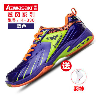 Kawasaki pria dan wanita tergelincir bernapas ringan sepatu pelatihan bulu tangkis sepatu (K-330