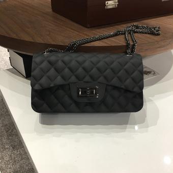 Eropa dan Amerika tas bahu baru Messenger Bag tas tas jelly tas wanita Warna Gun